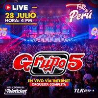 FELIZ DIA PERU - GRUPO 5 STREAMING TLK PLAY - LIMA